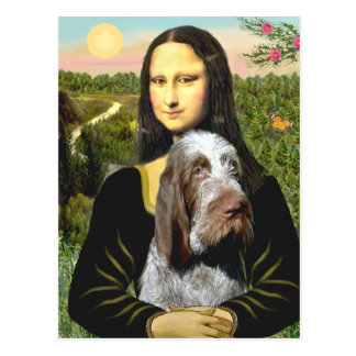 Mona Lisa - italiano Spinone (10) melado Tarjeta Postal