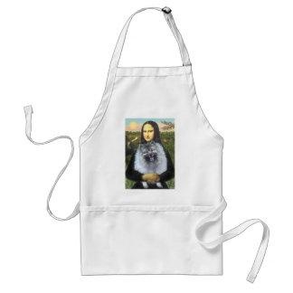 Mona Lisa - Keeshond (F) Adult Apron