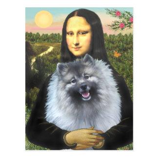 Mona Lisa - Keeshond (F) Postcard