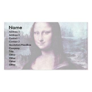 Mona Lisa (La Giaconda)  By Leonardo Da Vinci (Bes Double-Sided Standard Business Cards (Pack Of 100)