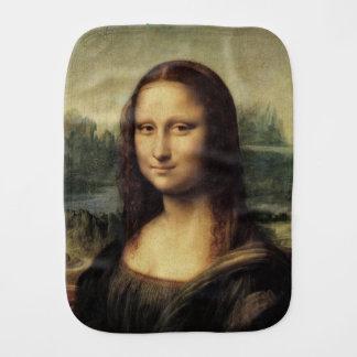 Mona Lisa La Gioconda by Leonardo da Vinci Baby Burp Cloths