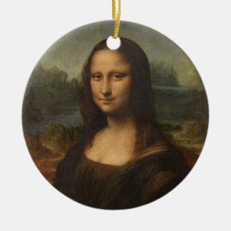 Mona Lisa (La Gioconda) Adorno Redondo De Cerámica
