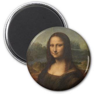 Mona Lisa (La Gioconda) Imán Redondo 5 Cm