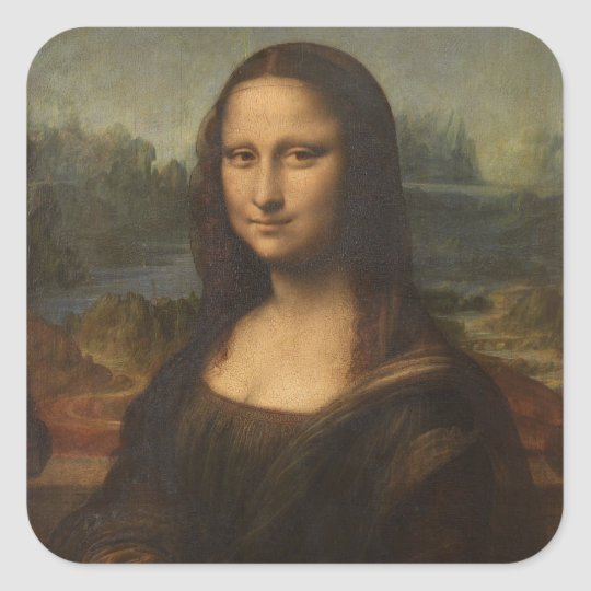 Mona Lisa (La Gioconda) Square Sticker