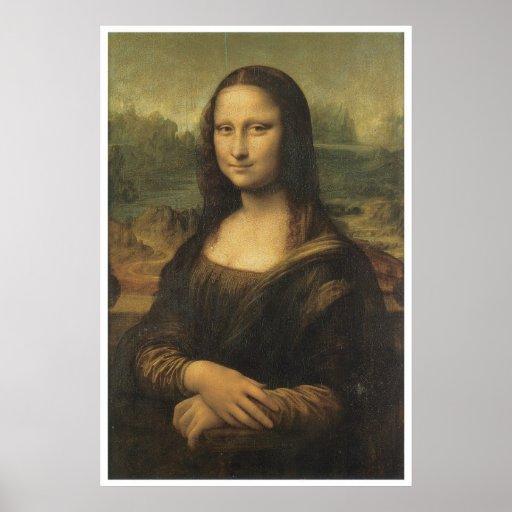 Mona Lisa, Leonardo da Vinci 1506 Póster