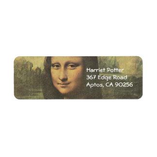 Mona Lisa Leonardo da Vinci Fine Art Label