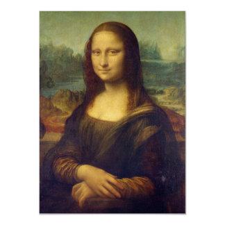 """Mona Lisa - Leonardo da Vinci Invitación 4.5"""" X 6.25"""""""