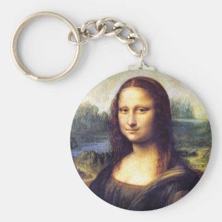 Mona Lisa, Leonardo da Vinci Llavero Redondo Tipo Pin