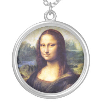 Mona Lisa, Leonardo da Vinci Round Pendant Necklace