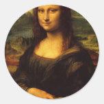 Mona Lisa - Leonardo da Vinci Pegatinas Redondas