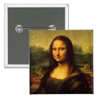Mona Lisa Leonardo da Vinci Pin Cuadrada 5 Cm
