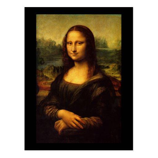 Mona Lisa Leonardo Da Vinci Postcard