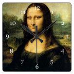 Mona Lisa, Leonardo da Vinci Reloj Cuadrado