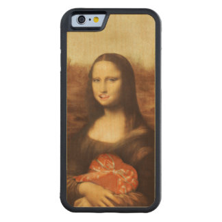 Mona Lisa Likes Valentine's Candy Carved® Maple iPhone 6 Bumper Case