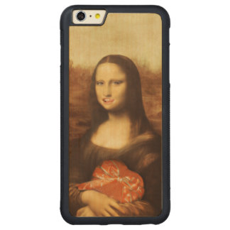 Mona Lisa Likes Valentine's Candy Carved® Maple iPhone 6 Plus Bumper Case
