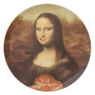 Mona Lisa Likes Valentine's Candy Dinner Plate