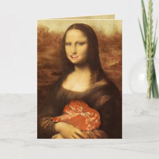 Mona Lisa Likes Valentine's Candy Holiday Card