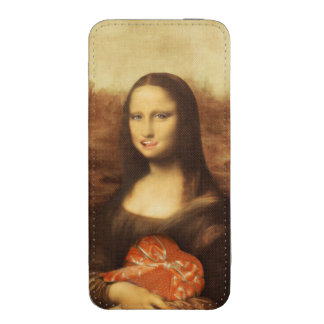 Mona Lisa Likes Valentine's Candy iPhone 5 Pouch