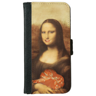Mona Lisa Likes Valentine's Candy iPhone 6 Wallet Case