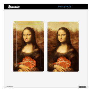 Mona Lisa Likes Valentine's Candy Decals For Kindle Fire