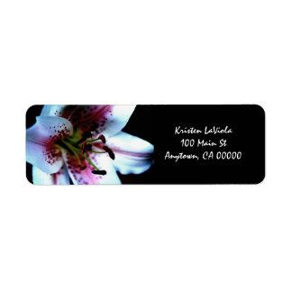 Mona Lisa Lily Address Label
