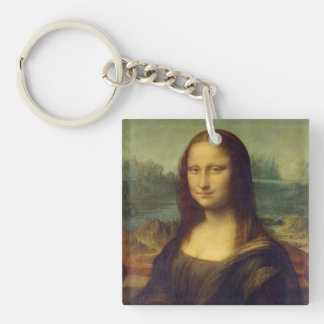 Mona Lisa Llavero Cuadrado Acrílico A Una Cara