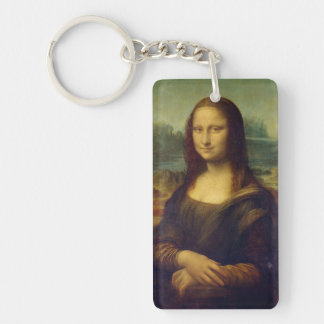 Mona Lisa Llavero Rectangular Acrílico A Doble Cara