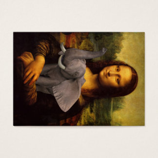 Mona Lisa Loves Elephants Business Card