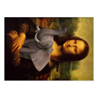Mona Lisa Loves Elephants Large Business Card