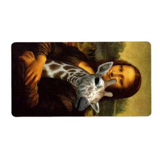 Mona Lisa Loves Giraffes Label