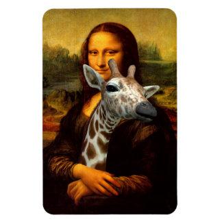 Mona Lisa Loves Giraffes Magnet