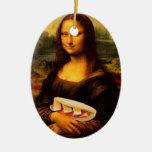 Mona Lisa Loves Paninis Christmas Tree Ornaments