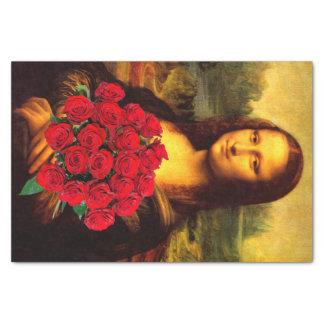 """Mona Lisa Loves Roses 10"""" X 15"""" Tissue Paper"""