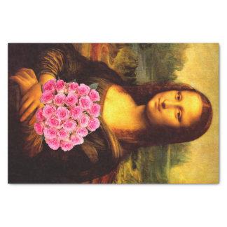 Mona Lisa Loves Roses Tissue Paper