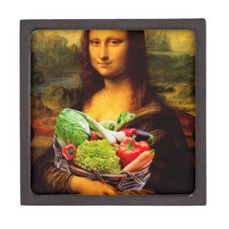 Mona Lisa Loves Vegetables Keepsake Box