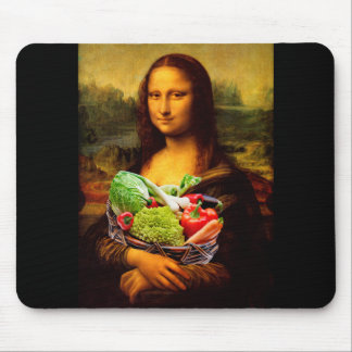 Mona Lisa Loves Vegetables Mouse Pad