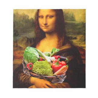 Mona Lisa Loves Vegetables Notepad