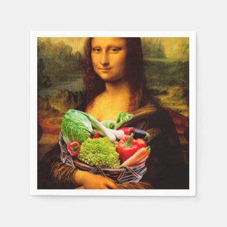 Mona Lisa Loves Vegetables Paper Napkin