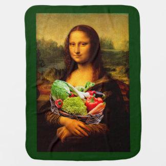 Mona Lisa Loves Vegetables Receiving Blankets