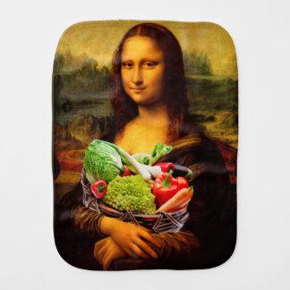 Mona Lisa Loves Vegetables Burp Cloth