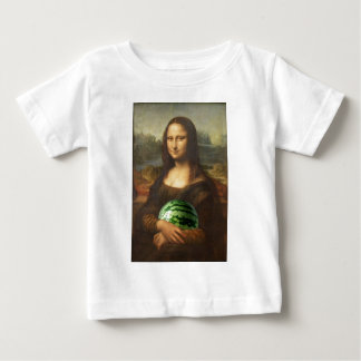 Mona Lisa Loves Watermelons Baby T-Shirt