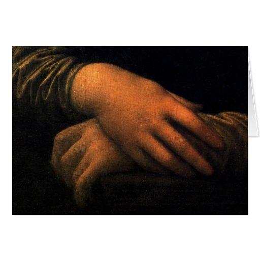 Mona Lisa - manos Tarjeta De Felicitación