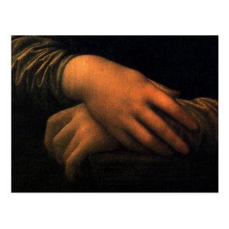 Mona Lisa - manos Tarjeta Postal