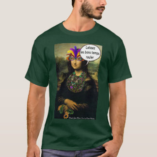 Mona Lisa Mardi Gras T-Shirt