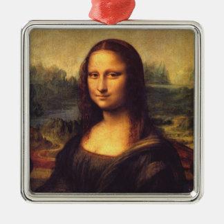 Mona Lisa Metal Ornament