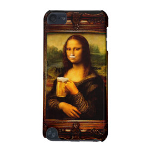 Mona lisa - mona lisa beer  - funny mona lisa-beer iPod touch 5G cover