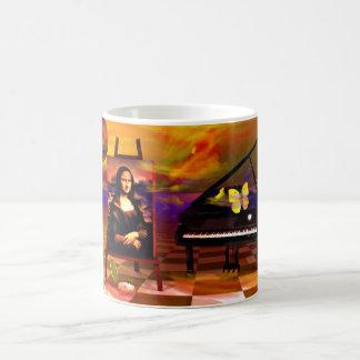 Mona Lisa Music Art. Mona Lisa Products by Lenny Coffee Mug