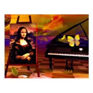 Mona Lisa Music Art. Mona Lisa Products by Lenny Postcard