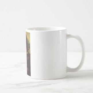 mona lisa mustache coffee mug