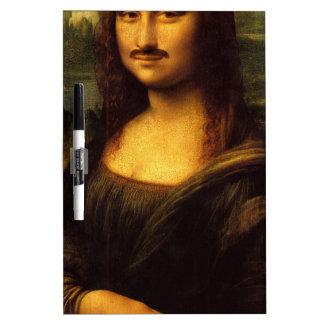 mona lisa mustache Dry-Erase board